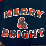 Merry And Bright Sweatshirt-EOY2020, Made in the USA-Womens Artisan USA American Made Clothing Accessories
