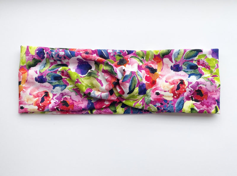 Vibrant Garden Headband - wholesale--Womens Artisan USA American Made Clothing Accessories