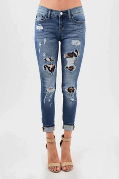 Leopard Print and Distressed Jeans