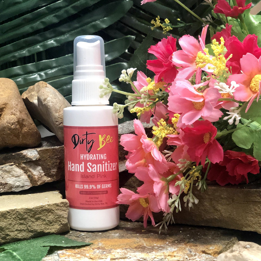 Island Pink Hand Sanitizer Spray | 2oz-Bath & Body, body, Dirty Bee, Dropship, Hand Sanitizer, Island Pink-Womens Artisan USA American Made Clothing Accessories
