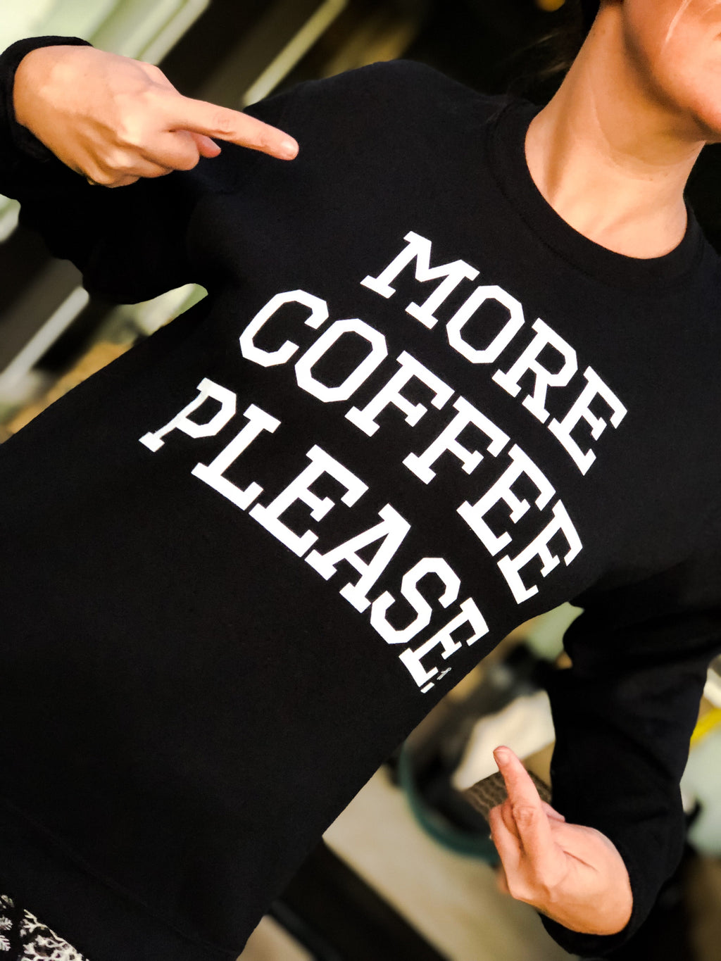 More Coffee Please--Womens Artisan USA American Made Clothing Accessories
