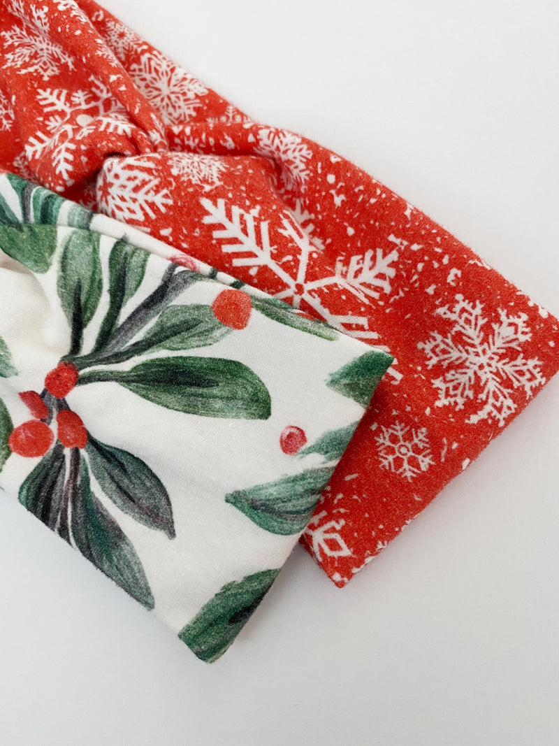 Christmas Mistletoes Headband - On Hand--Womens Artisan USA American Made Clothing Accessories