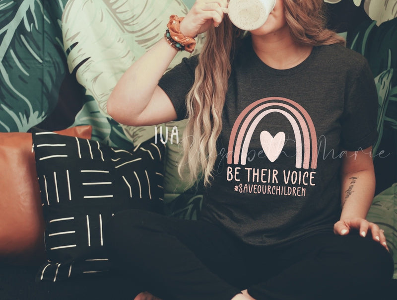 Be Their Voice-po-XS-SHORT SLEEVE TEE-Womens Artisan USA American Made Clothing Accessories