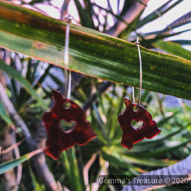Big Island Hawai'i Earrings - Made in Hawaii--Womens Artisan USA American Made Clothing Accessories