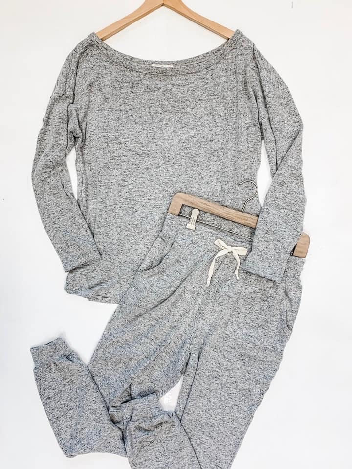 Grey Heather Lounge Top--Womens Artisan USA American Made Clothing Accessories