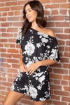 Ellis Off Shoulder Romper--Womens Artisan USA American Made Clothing Accessories