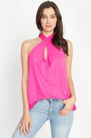 Ellis Twist Neck Top--Womens Artisan USA American Made Clothing Accessories