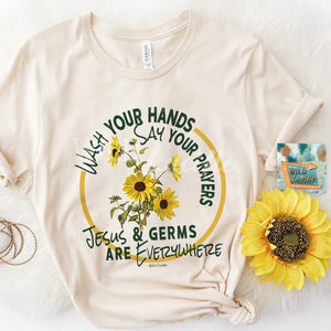 Jesus & Germs Everywhere--Womens Artisan USA American Made Clothing Accessories