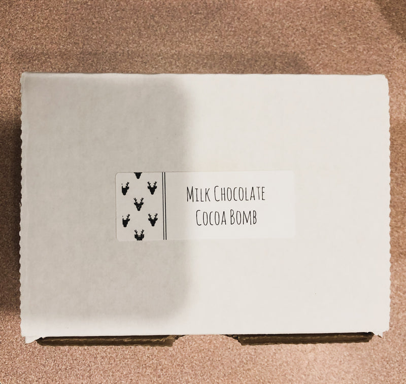 "Three ""Mini"" Milk Cocoa Bombs--Womens Artisan USA American Made Clothing Accessories"
