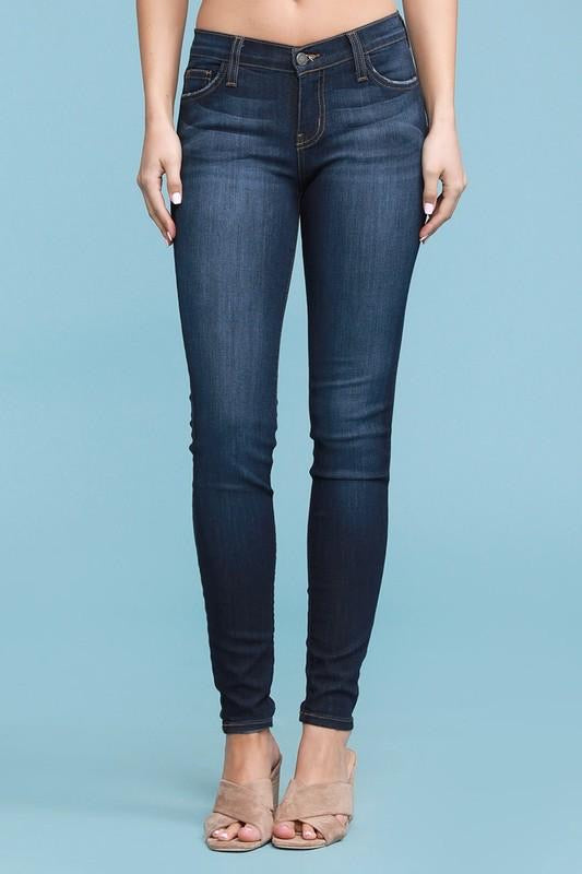 Skinny Mid Rise Jeans--Womens Artisan USA American Made Clothing Accessories