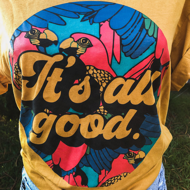 It's All Good! Crew Tee || Gold
