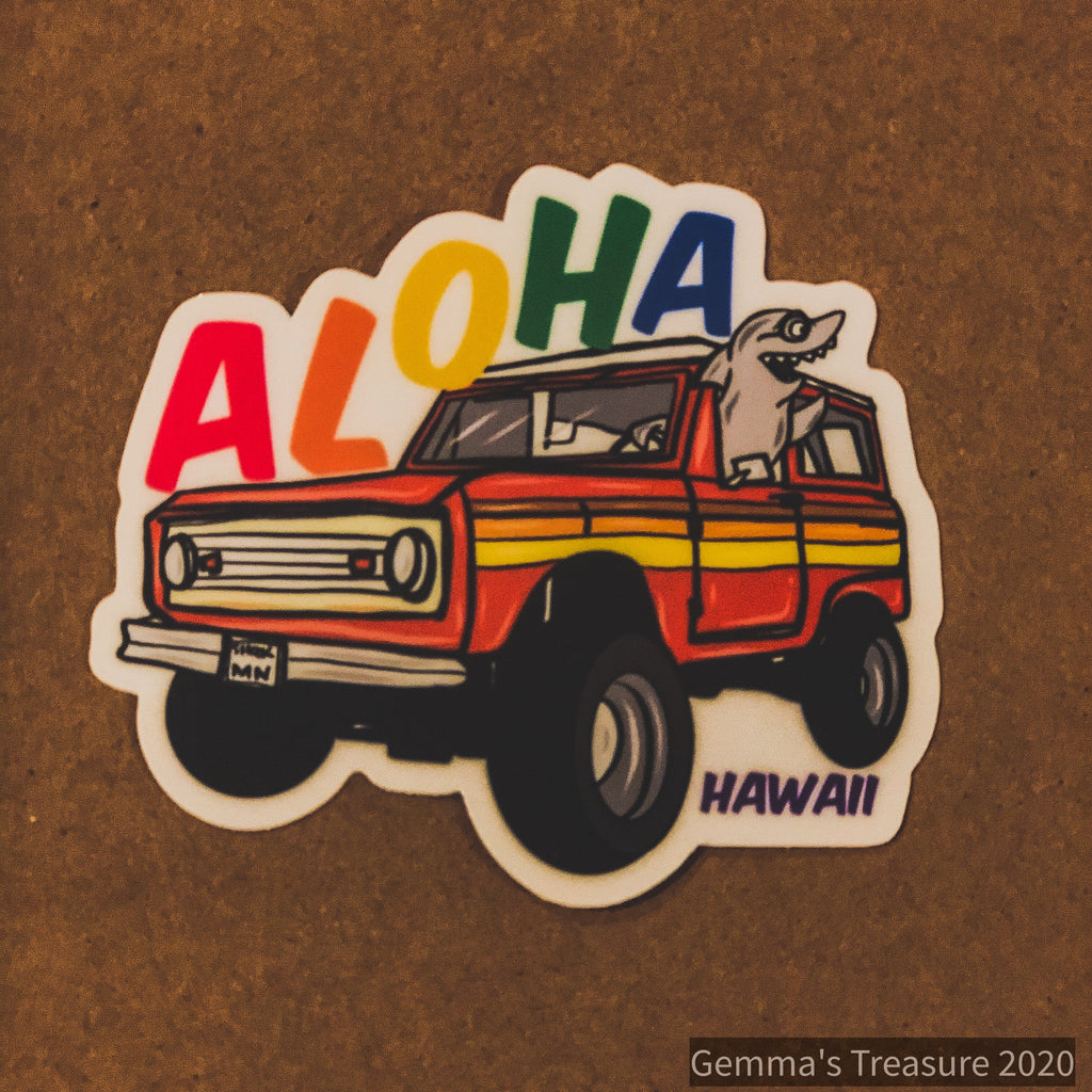 Assorted Hawaii Artisan Stickers-Gifts, Hawaii, Stickers-Womens Artisan USA American Made Clothing Accessories