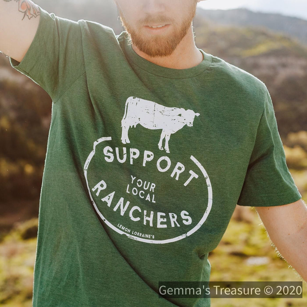 Support Your Local Ranchers-Made in the USA-Womens Artisan USA American Made Clothing Accessories