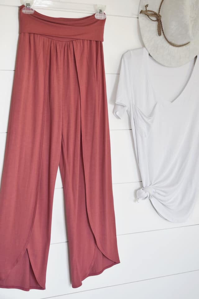 Fold Over Peddle Pant-Bottoms-Womens Artisan USA American Made Clothing Accessories