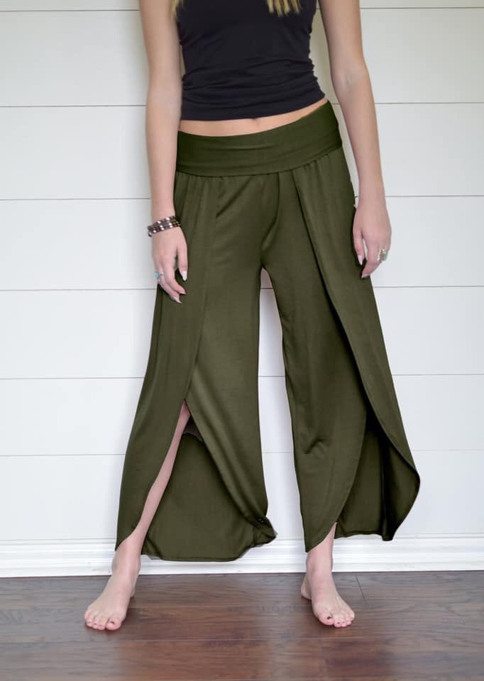 Fold Over Peddle Pant--Womens Artisan USA American Made Clothing Accessories