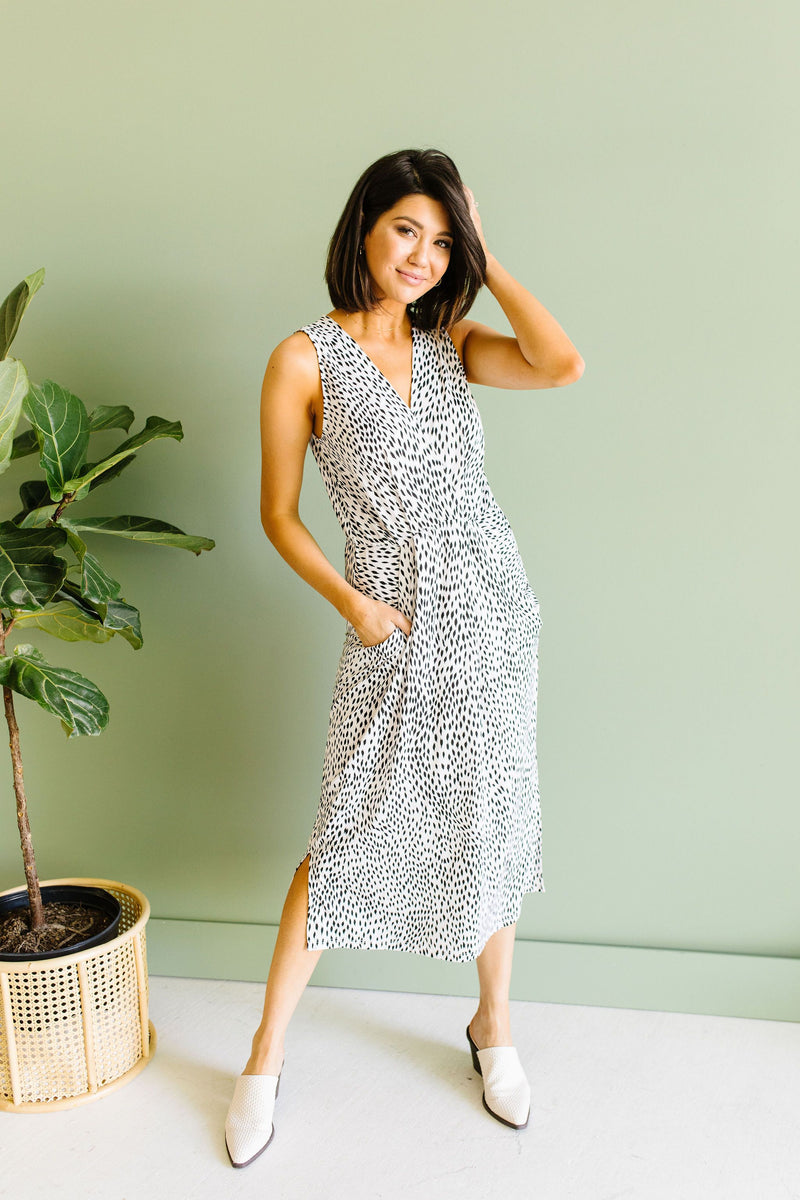 Lottie Spotty Dress-1XL, 2XL, 6-18-2020, 6-26-2020, Bonus, Dresses, Group A, Group B, Group C, Large, Medium, Plus, Small, XL-Womens Artisan USA American Made Clothing Accessories
