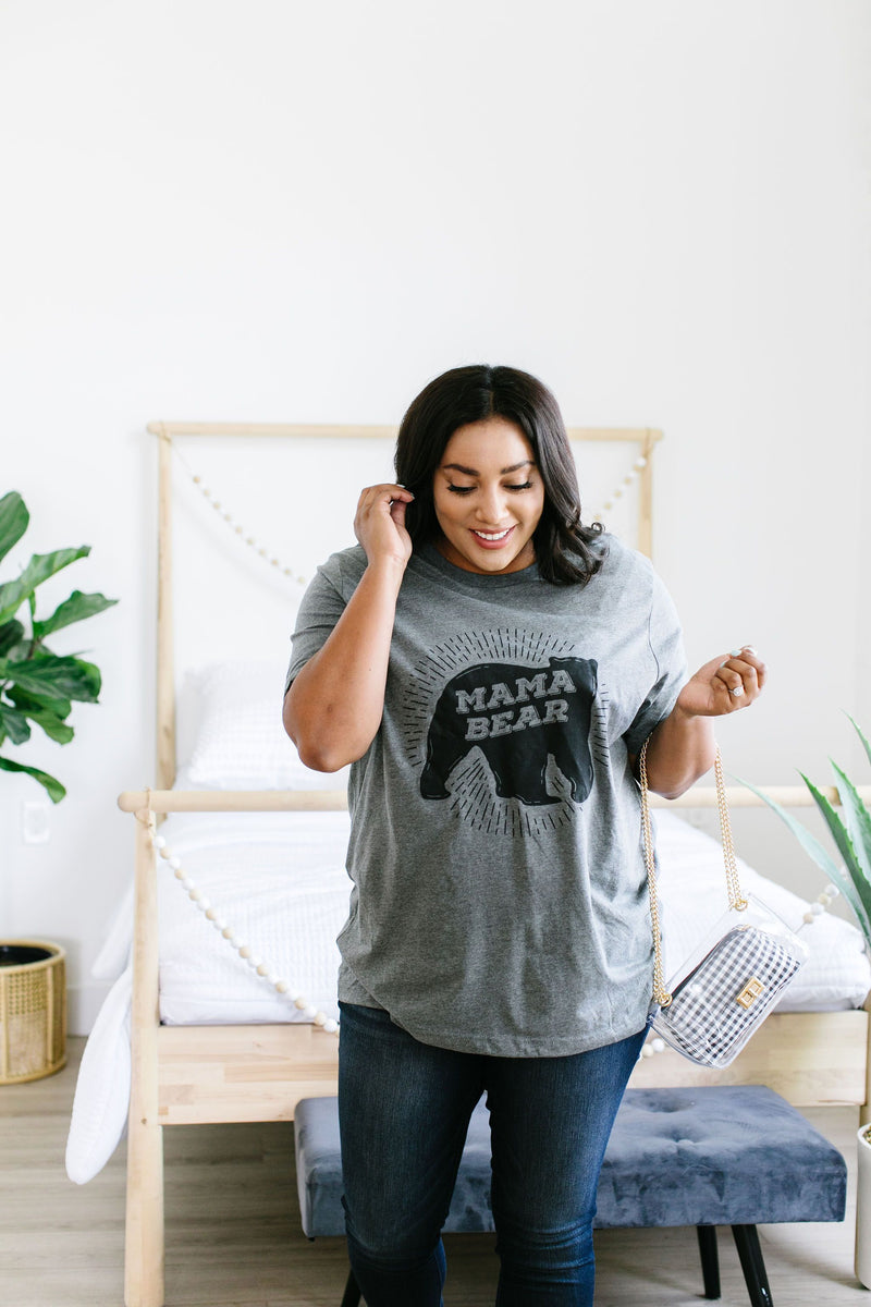 Mama Bear Graphic Tee-2XL, 3XL, 5-1-2020, Group A, Group B, Group C, Large, Medium, Plus, Small, Tops, XL, XS-Womens Artisan USA American Made Clothing Accessories