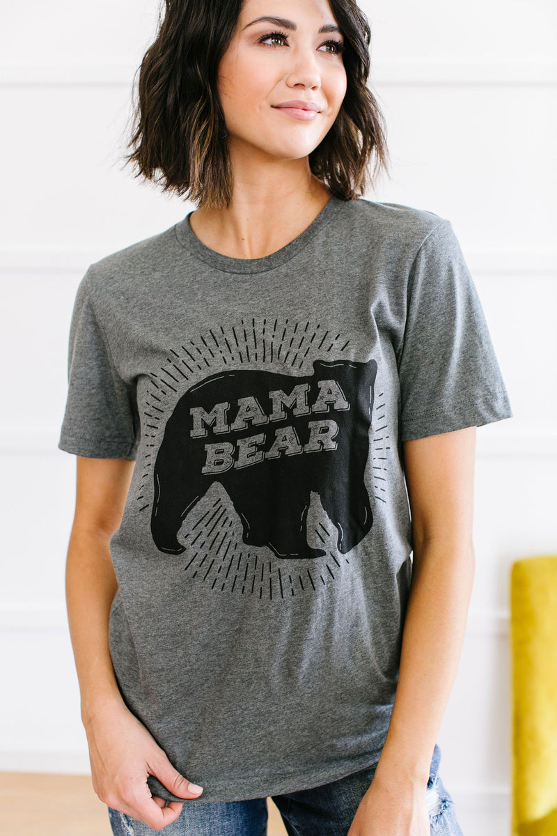 Mama Bear Graphic Tee-2XL, 3XL, 5-1-2020, BFCM2020, Group A, Group B, Group C, Group D, Large, Medium, Plus, Small, Tops, XL, XS-Womens Artisan USA American Made Clothing Accessories
