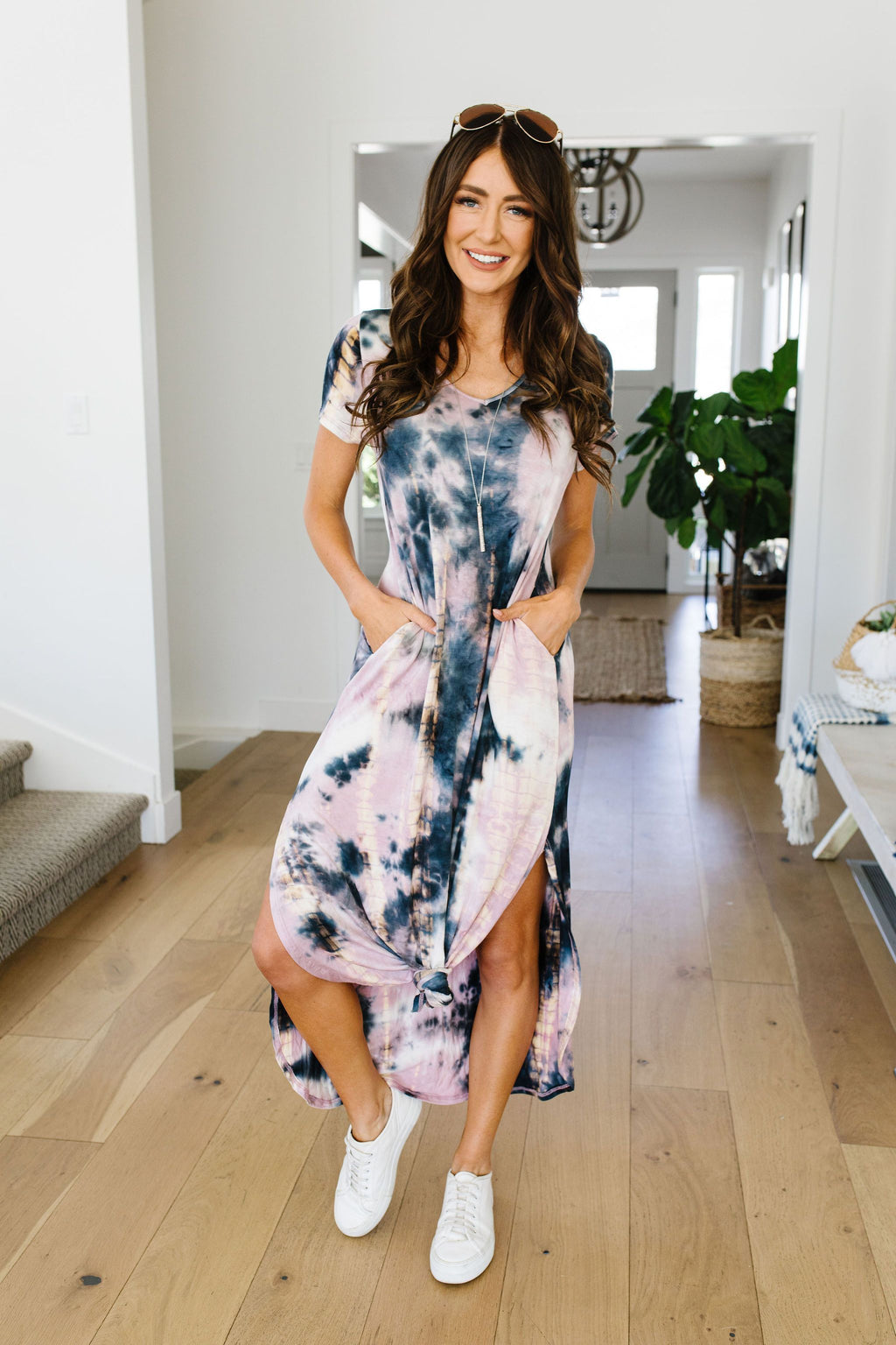 Miami Beach Tie Dye Maxi Dress-1XL, 2XL, 6-9-2020, 9-4-2020, BFCM2020, Bonus, Dresses, Group A, Group B, Group C, Group D, Group S, Group T, Large, Made in the USA, Medium, Plus, Restocks, Small, XL-Womens Artisan USA American Made Clothing Accessories