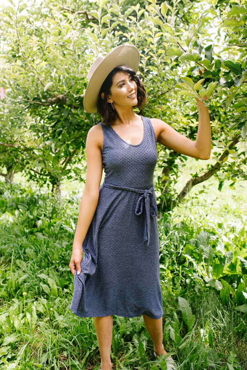 Missing You Swiss Dot Midi Dress-1XL, 2XL, 3XL, 7-23-2020, BFCM2020, Dresses, Group A, Group B, Group C, Group D, Large, Medium, Plus, Small, Warehouse Sale, XL, XS-Womens Artisan USA American Made Clothing Accessories