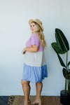 Mix It Up Tiered Colorblock Dress-1XL, 2XL, 3XL, 7-16-2020, 7-24-2020, Bonus, Dresses, Final Few Friday, Group A, Group B, Group C, Group D, Large, Medium, Plus, Small-Womens Artisan USA American Made Clothing Accessories