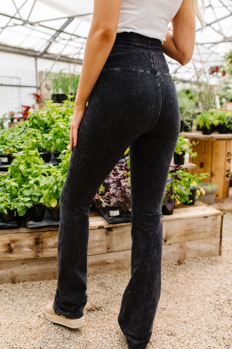 Mountain Pose Mineral Wash Yoga Pants In Black-5-14-2020, 5-22-2020, Bonus, Bottoms, Group A, Group B, Group C, Large, Medium, Small, XL-Womens Artisan USA American Made Clothing Accessories