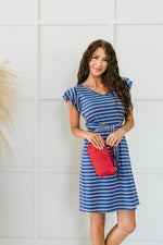 On Point Striped Dress-1XL, 2XL, 3XL, 4TH2020, 6-12-2020, 6-2-2020, BFCM2020, Bonus, Dresses, Final Few Friday, Group A, Group B, Group C, Group D, Group T, Large, Made in the USA, Medium, Plus, Small, XL, XS-Womens Artisan USA American Made Clothing Accessories