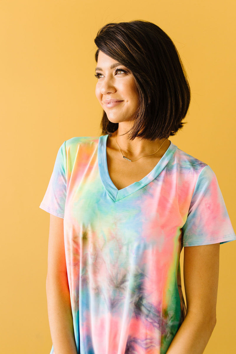 Pink Perfection Tie Dye Top-1XL, 2XL, 3XL, 6-18-2020, 6-26-2020, Bonus, Group A, Group B, Group C, Large, Medium, Plus, Small, Tops, XL, XS-Womens Artisan USA American Made Clothing Accessories
