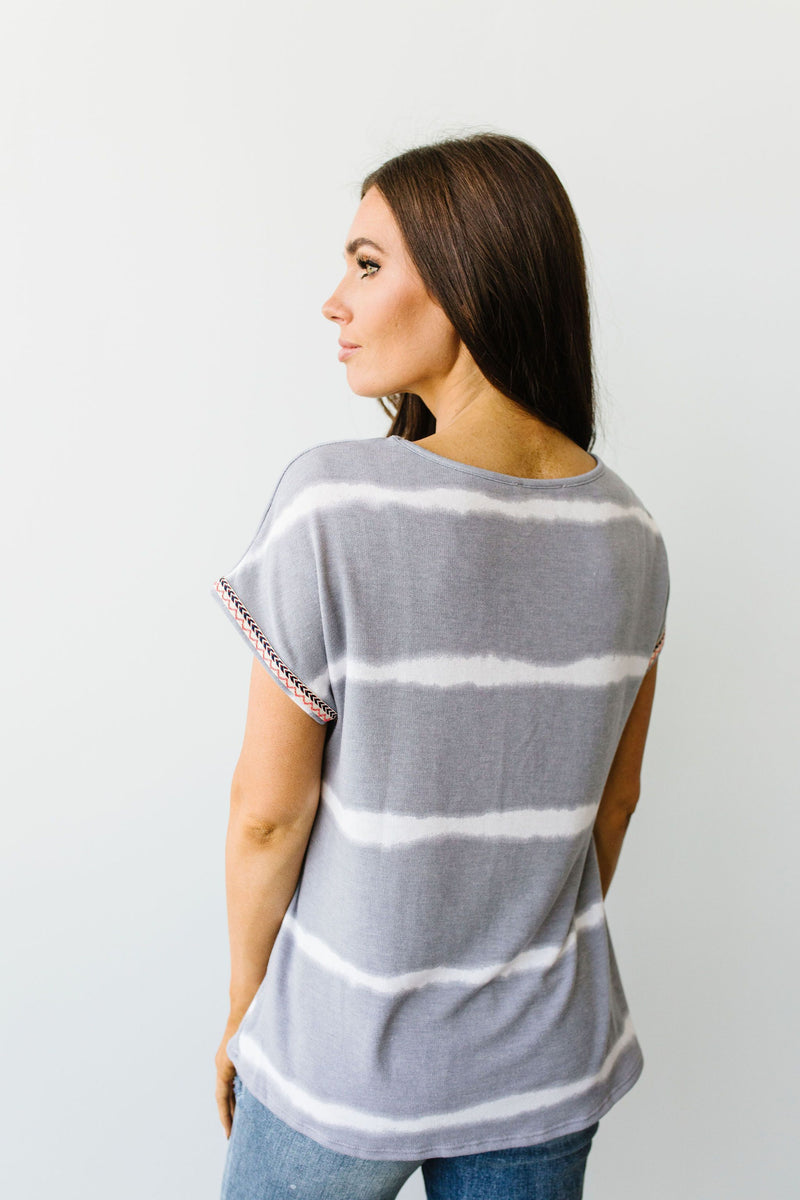 Play In Gray Top - On Hand-1XL, 2XL, 3XL, 8-11-2020, BFCM2020, Group A, Group B, Group C, Group D, Group T, Large, Medium, On hand, Plus, Small, Tops-Small-Womens Artisan USA American Made Clothing Accessories
