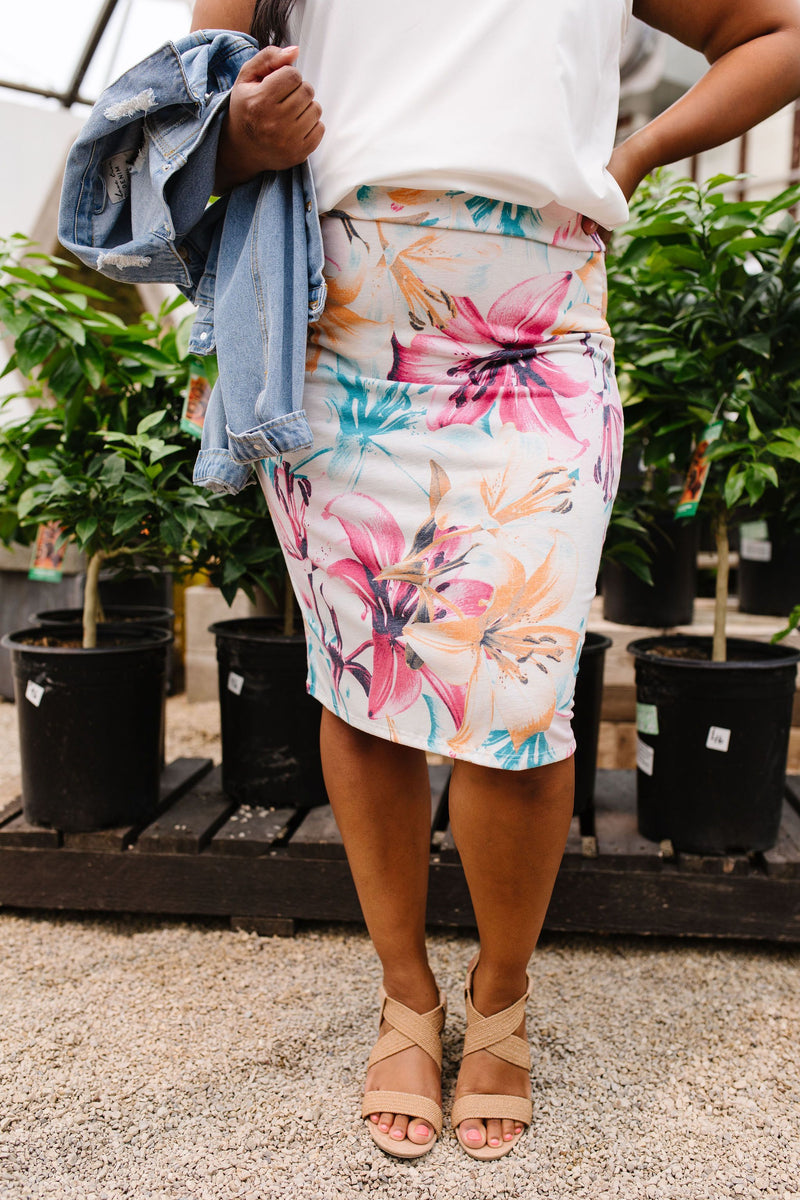 Rhapsody In Bloom Skirt-1XL, 2XL, 3XL, 6-30-2020, 7-10-2020, Bonus, Bottoms, Group A, Group B, Group C, Group D, Large, Made in the USA, Medium, Plus, Small, Warehouse Sale, XL, XS-Womens Artisan USA American Made Clothing Accessories
