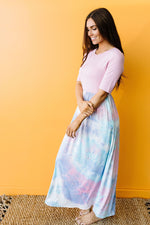 Santa Ana Tie Dye Maxi In Pink-1XL, 2XL, 3XL, 7-21-2020, 7-31-2020, BFCM2020, Bonus, Dresses, Final Few Friday, Group A, Group B, Group C, Group D, Large, Made in the USA, Medium, Plus, Small-Womens Artisan USA American Made Clothing Accessories