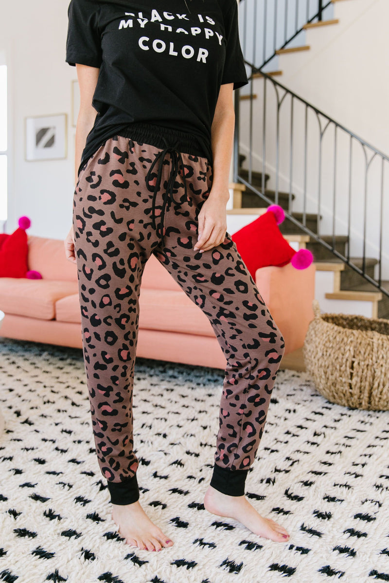 Spot Of Pink Joggers-Loungewear-Womens Artisan USA American Made Clothing Accessories