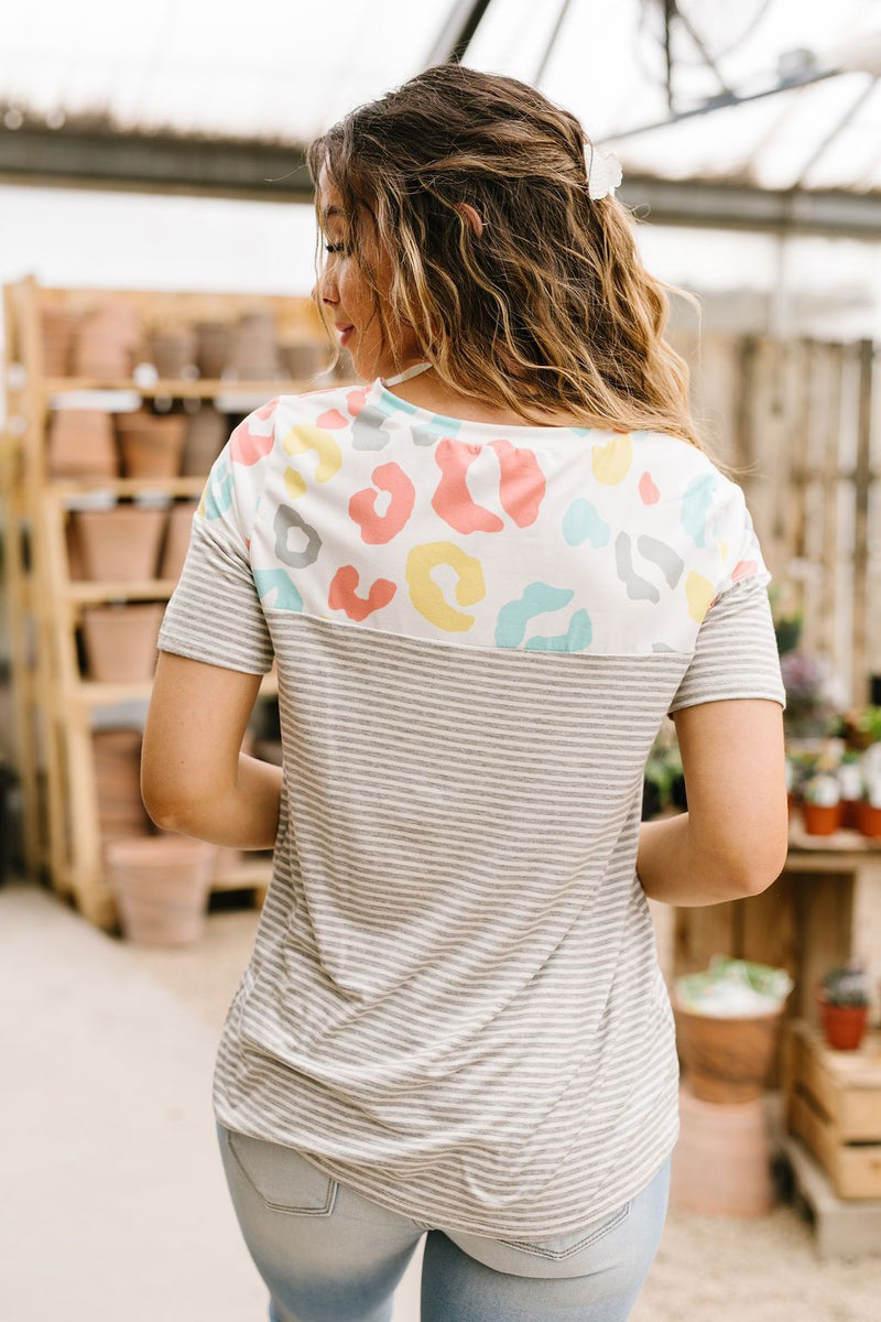 Spotted Side Up Top-1XL, 2XL, 3XL, 5-26-2020, BFCM2020, Final Few Friday, Group A, Group B, Group C, Group D, Group T, Large, Made in the USA, Medium, Plus, Small, Tops, XL, XS-Womens Artisan USA American Made Clothing Accessories