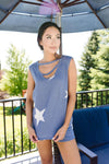 Star Player Top In Blue-1XL, 2XL, 3XL, 6-25-2020, Group A, Group B, Group C, Large, Medium, Plus, Small, Tops, XL, XS-Womens Artisan USA American Made Clothing Accessories