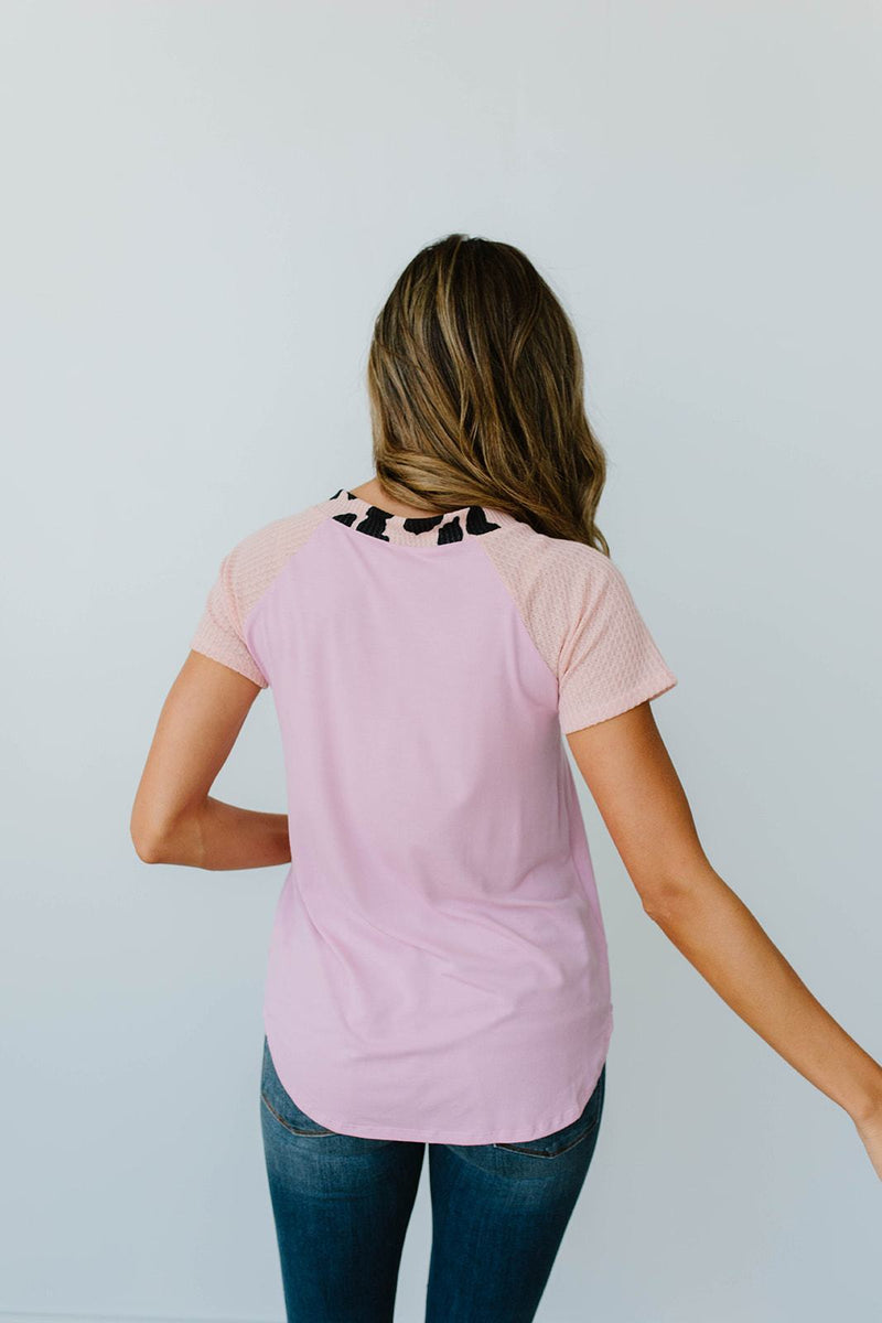 Strappy & Spotty V Top In Mauve-1XL, 2XL, 3XL, 8-12-2020, 8-4-2020, BFCM2020, Bonus, Group A, Group B, Group C, Group D, Large, Medium, Plus, Small, Tops, Warehouse Sale, XL, XS-Womens Artisan USA American Made Clothing Accessories