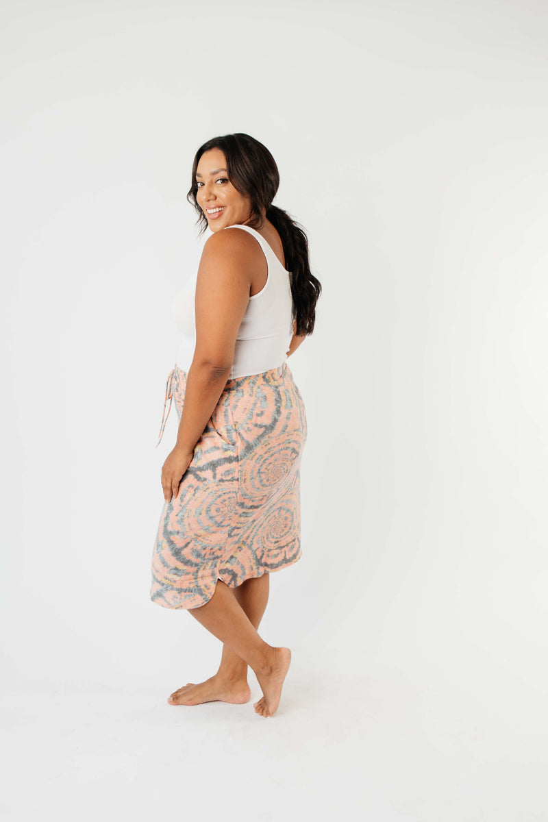 Swirl Power Drawstring Skirt-1XL, 2XL, 3XL, 8-13-2020, 8-21-2020, Bonus, Bottoms, Group A, Group B, Group C, Group D, Large, Medium, Plus, Small, XL, XS-Womens Artisan USA American Made Clothing Accessories