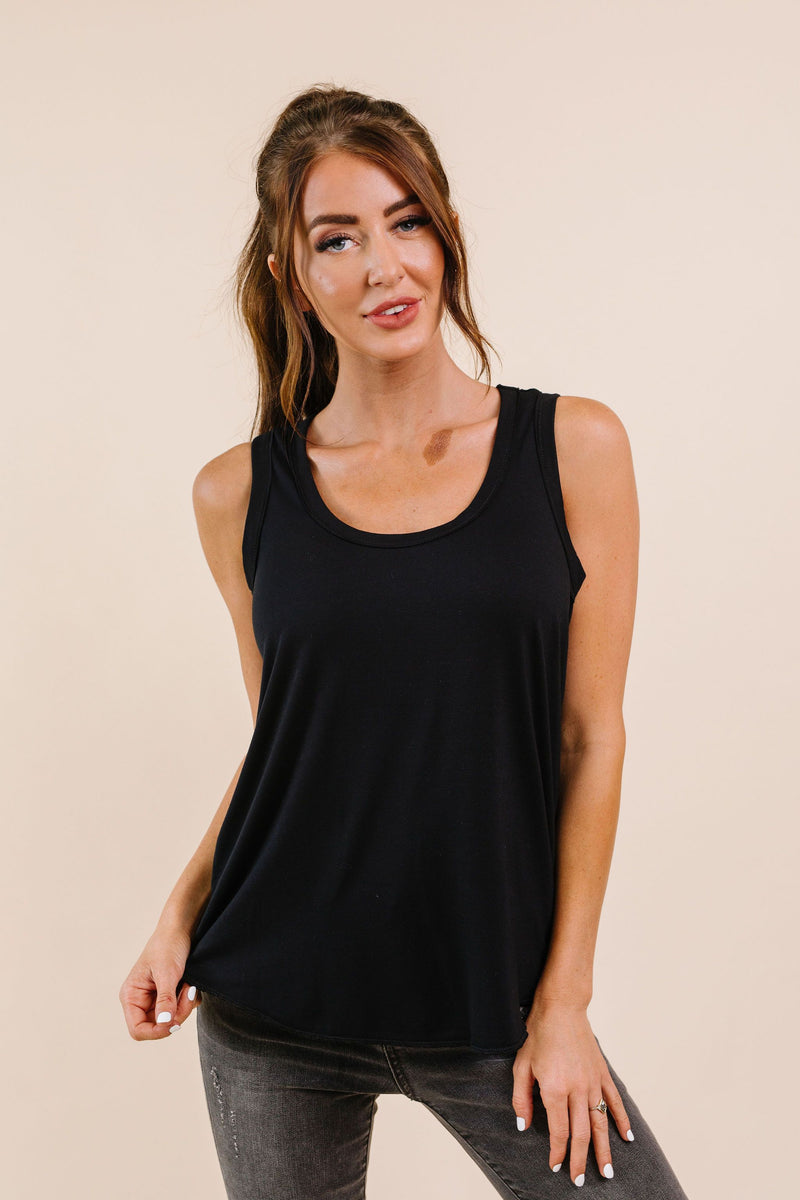Tank Heavens Black Tank Top - On Hand-1XL, 2XL, 3XL, 8-25-2020, BFCM2020, Group A, Group B, Group C, Group D, Large, Medium, On hand, Plus, Small, Tops, XL, XS-Small-Womens Artisan USA American Made Clothing Accessories