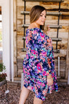 Terrace Garden Dress In Navy-1XL, 2XL, 3XL, 5-26-2020, 6-5-2020, Bonus, Dresses, Final Few Friday, Group A, Group B, Group C, Large, Medium, Plus, Small, XL, XS-Womens Artisan USA American Made Clothing Accessories