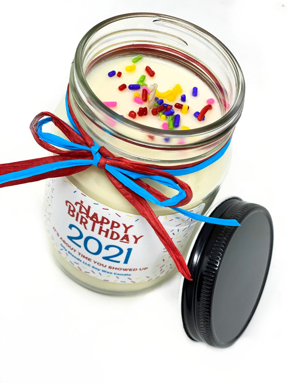 Happy Birthday 2021 Products-Jumbo Candle-Womens Artisan USA American Made Clothing Accessories