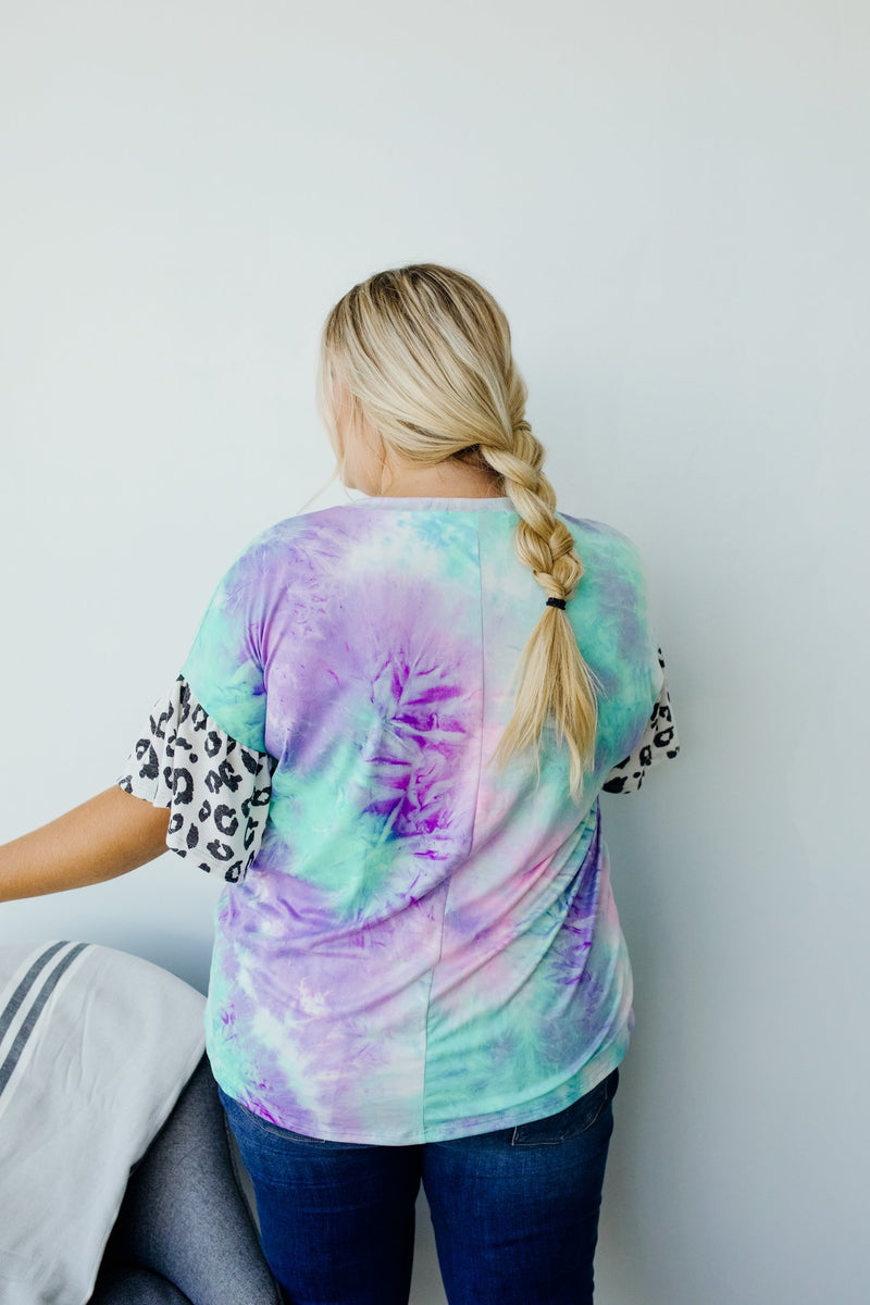 Trendy Comfort Tie Dye Top-1XL, 2XL, 3XL, 7-16-2020, 7-24-2020, Bonus, Group A, Group B, Group C, Large, Medium, Plus, Small, Tops, Warehouse Sale, XL, XS-Womens Artisan USA American Made Clothing Accessories