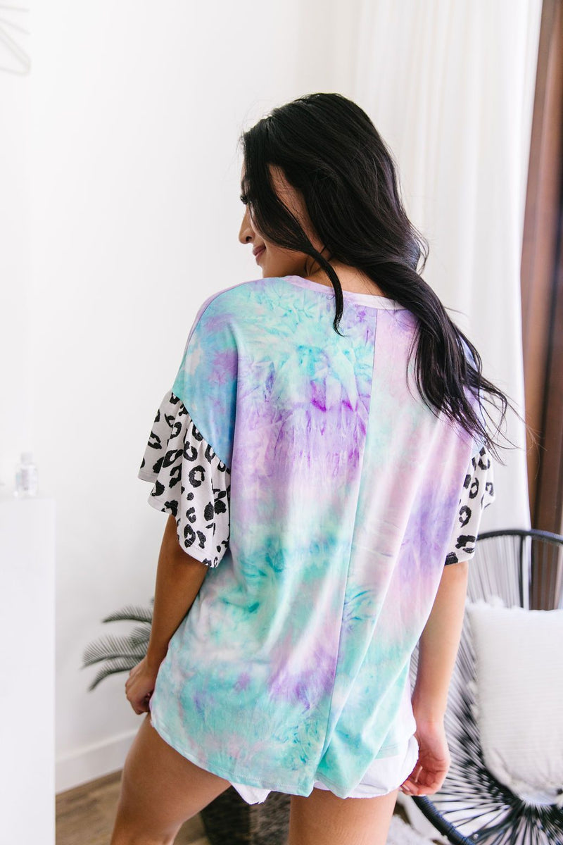 Trendy Comfort Tie Dye Top-1XL, 2XL, 3XL, 7-16-2020, 7-24-2020, BFCM2020, Bonus, Group A, Group B, Group C, Group D, Group T, Large, Medium, Plus, Small, Tops, Warehouse Sale, XL, XS-Womens Artisan USA American Made Clothing Accessories