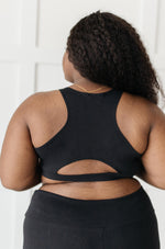Lazy Days Racerback Bra in Black-1XL, 2-18-2021, 2XL, 3XL, Group A, Group B, Group C, Large, Made in the USA, Medium, Small, Tops, XL, XS-Womens Artisan USA American Made Clothing Accessories