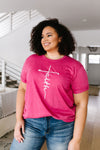 Vertical Faith Graphic Tee In Heathered Berry-3-5-2020, Plus, Sync, Tops-Womens Artisan USA American Made Clothing Accessories