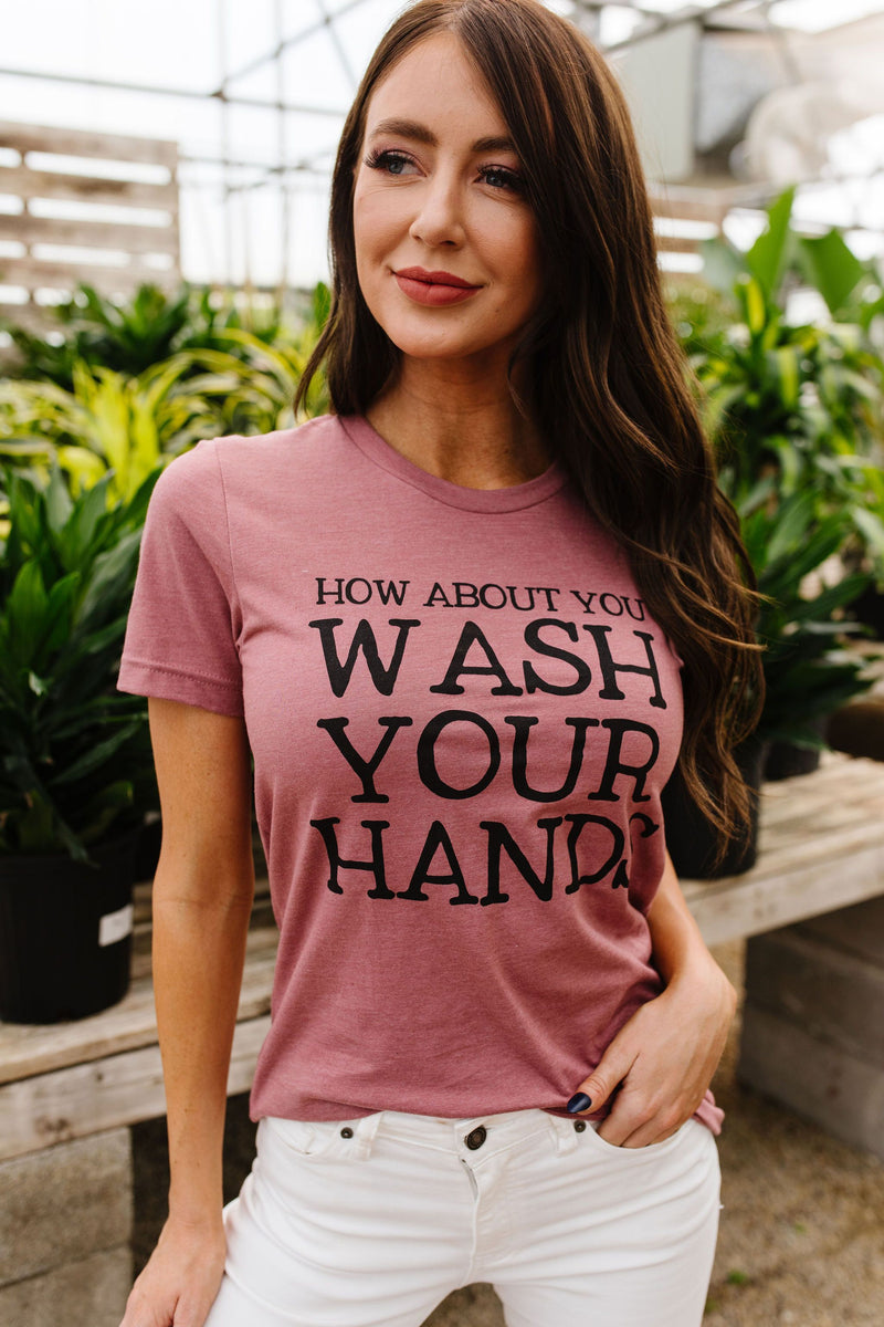 Wash Your Hands Graphic Tee-2XL, 3XL, 4-28-2020, BFCM2020, Bonus-5/06/20, FeaturedJan21, Final Few Friday, Group A, Group B, Group C, Group D, Large, Medium, Plus, Small, Tops, Warehouse Sale, XL, XS-Womens Artisan USA American Made Clothing Accessories