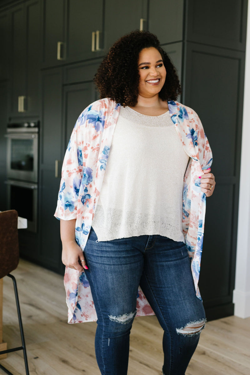 Watercolor Kimono-3-17-2020, BFCM2020, Plus, Sync, Tops, Warehouse Sale-Womens Artisan USA American Made Clothing Accessories