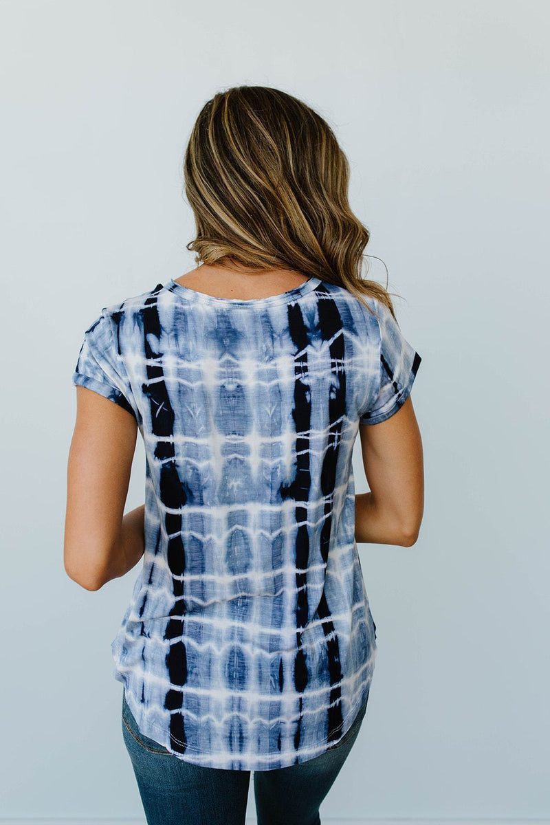 Wham Bamboo Top In Navy-1XL, 2XL, 3XL, 8-6-2020, Group A, Group B, Group C, Group D, Large, Medium, Plus, Small, Tops, XL, XS-Womens Artisan USA American Made Clothing Accessories