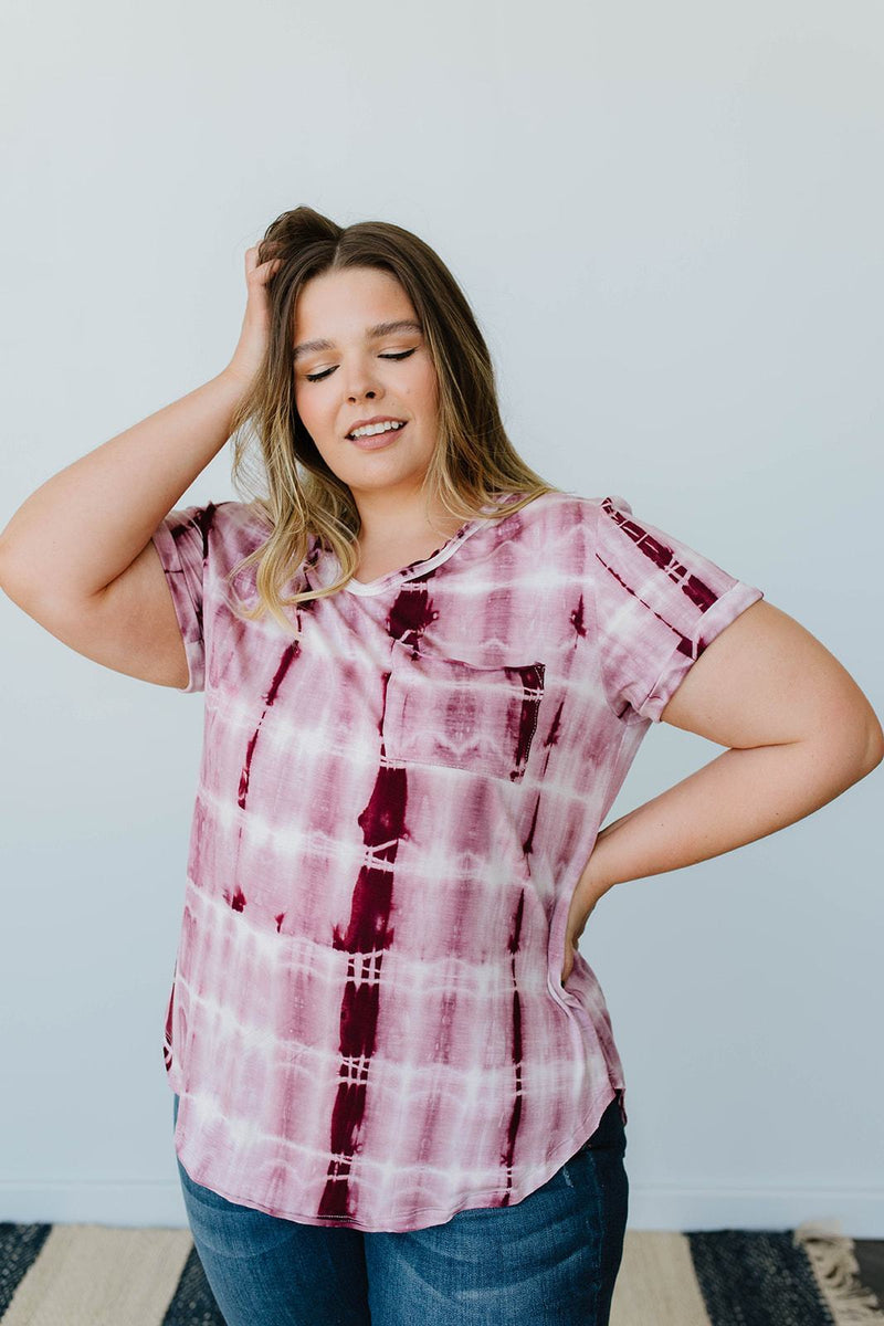 Wham Bamboo Top In Wine-1XL, 2XL, 3XL, 8-6-2020, BFCM2020, Group A, Group B, Group C, Group D, Large, Medium, Plus, Small, Tops, XL, XS-Womens Artisan USA American Made Clothing Accessories