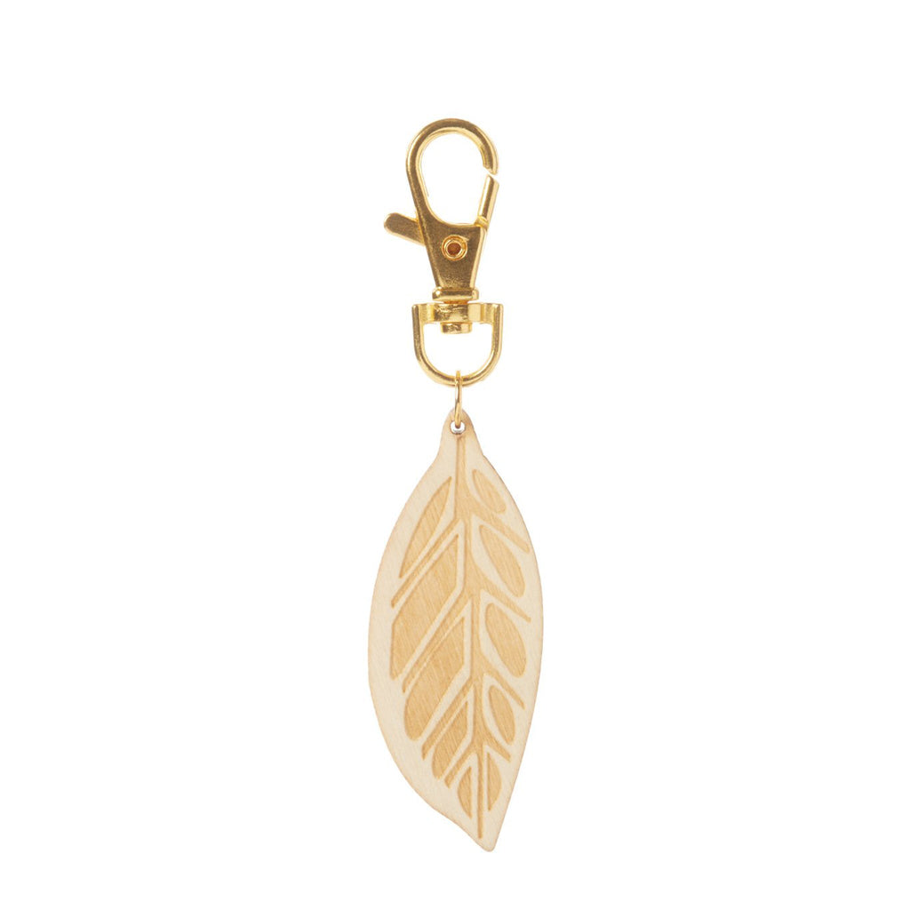 Wood Leaf Diffuser Keychain--Womens Artisan USA American Made Clothing Accessories