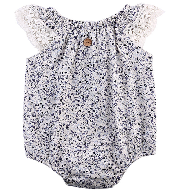 Ashley Floral Romper - Patter Panda Infant & Toddler Clothing