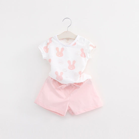 Gemma Bunny Printed Set - Patter Panda Infant & Toddler Clothing